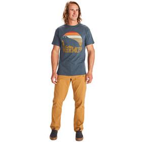 Marmot Dawning Camiseta Manga Corta Hombre, navy heather